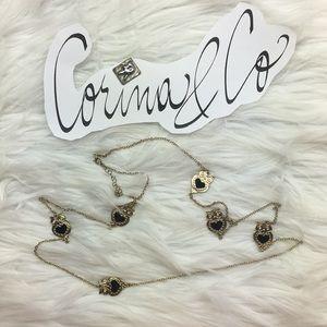 "42"" bejeweled owl necklace. NWOT"